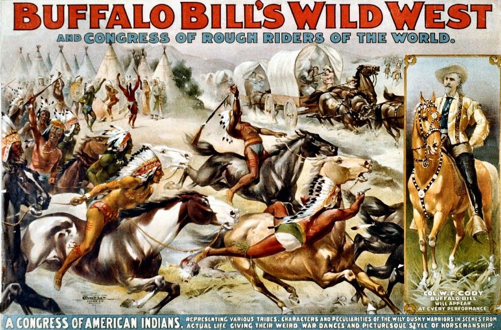 Buffalo Bill's Wild West Show toured the south of France in 1889 and 1905. (Click to view larger version...)