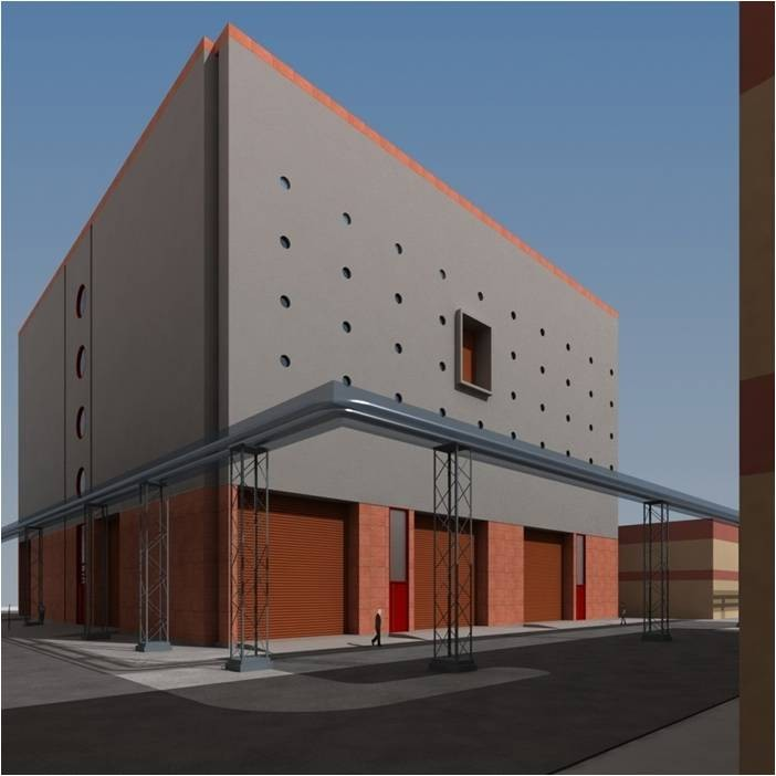 A CAD model of the future ITER India laboratory building.  (Click to view larger version...)