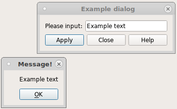 4 11  Creating dialogs in SMITER — SMITER 1 6 0 documentation